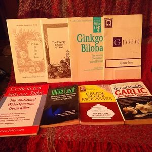 8 Natural Health Books/Pamphlets